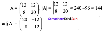 Samacheer Kalvi 12th Maths Solutions Chapter 1 Applications of Matrices and Determinants Ex 1.3 Q4