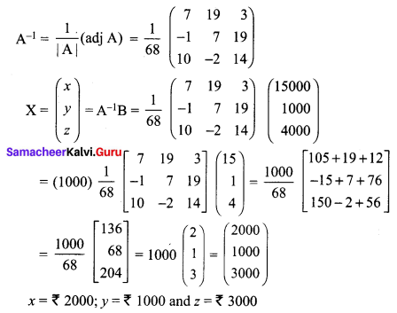 Samacheer Kalvi 12th Maths Solutions Chapter 1 Applications of Matrices and Determinants Ex 1.3 Q5.2