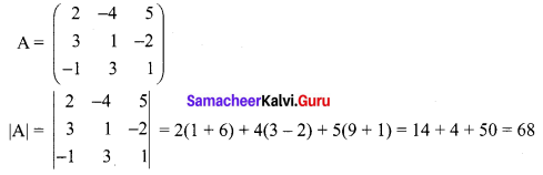 Samacheer Kalvi 12th Maths Solutions Chapter 1 Applications of Matrices and Determinants Ex 1.3 Q5