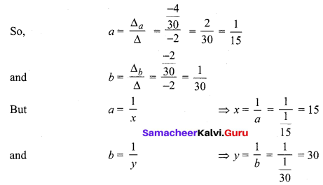 Samacheer Kalvi 12th Maths Solutions Chapter 1 Applications of Matrices and Determinants Ex 1.4 Q4.1