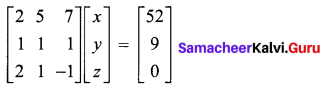 Samacheer Kalvi 12th Maths Solutions Chapter 1 Applications of Matrices and Determinants Ex 1.5 4