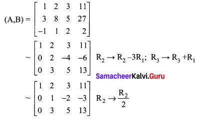 Samacheer Kalvi 12th Maths Solutions Chapter 1 Applications of Matrices and Determinants Ex 1.5 Q1.2