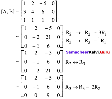Samacheer Kalvi 12th Maths Solutions Chapter 1 Applications of Matrices and Determinants Ex 1.7 2
