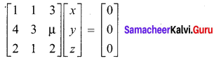 Samacheer Kalvi 12th Maths Solutions Chapter 1 Applications of Matrices and Determinants Ex 1.7 3