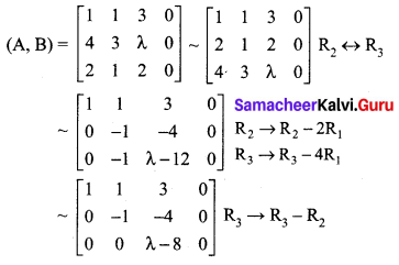Samacheer Kalvi 12th Maths Solutions Chapter 1 Applications of Matrices and Determinants Ex 1.7 Q2