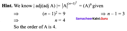 Samacheer Kalvi 12th Maths Solutions Chapter 1 Applications of Matrices and Determinants Ex 1.8 Q1