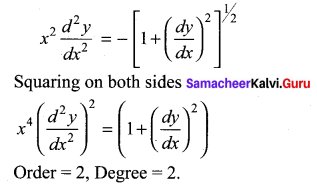 Samacheer Kalvi 12th Maths Solutions Chapter 10 Ordinary Differential Equations Ex 10.1 11