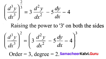 Samacheer Kalvi 12th Maths Solutions Chapter 10 Ordinary Differential Equations Ex 10.1 3