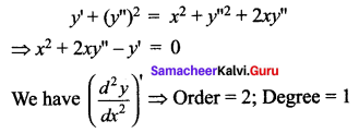 Samacheer Kalvi 12th Maths Solutions Chapter 10 Ordinary Differential Equations Ex 10.1 33