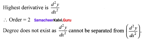 Samacheer Kalvi 12th Maths Solutions Chapter 10 Ordinary Differential Equations Ex 10.1 5