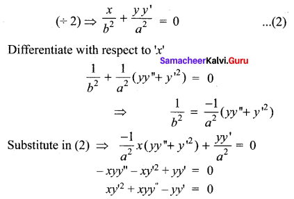 Samacheer Kalvi 12th Maths Solutions Chapter 10 Ordinary Differential Equations Ex 10.3 10