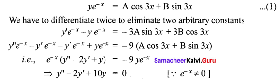 Samacheer Kalvi 12th Maths Solutions Chapter 10 Ordinary Differential Equations Ex 10.3 17