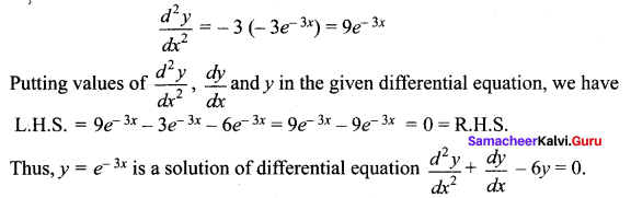 Samacheer Kalvi 12th Maths Solutions Chapter 10 Ordinary Differential Equations Ex 10.4 308