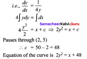 Samacheer Kalvi 12th Maths Solutions Chapter 10 Ordinary Differential Equations Ex 10.4 4