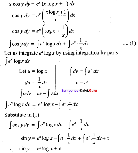 Samacheer Kalvi 12th Maths Solutions Chapter 10 Ordinary Differential Equations Ex 10.5 20
