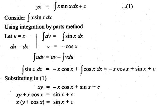 Samacheer Kalvi 12th Maths Solutions Chapter 10 Ordinary Differential Equations Ex 10.7 10