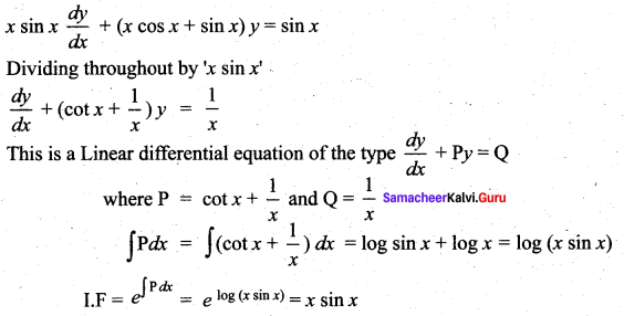 Samacheer Kalvi 12th Maths Solutions Chapter 10 Ordinary Differential Equations Ex 10.7 17