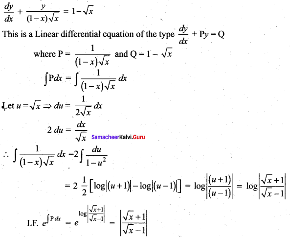 Samacheer Kalvi 12th Maths Solutions Chapter 10 Ordinary Differential Equations Ex 10.7 25