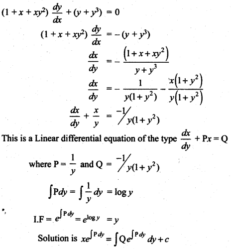 Samacheer Kalvi 12th Maths Solutions Chapter 10 Ordinary Differential Equations Ex 10.7 29