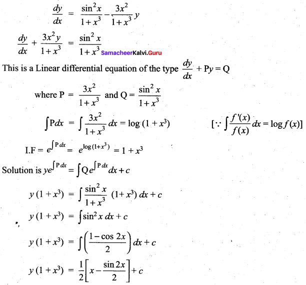 Samacheer Kalvi 12th Maths Solutions Chapter 10 Ordinary Differential Equations Ex 10.7 37