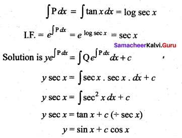 Samacheer Kalvi 12th Maths Solutions Chapter 10 Ordinary Differential Equations Ex 10.7 4