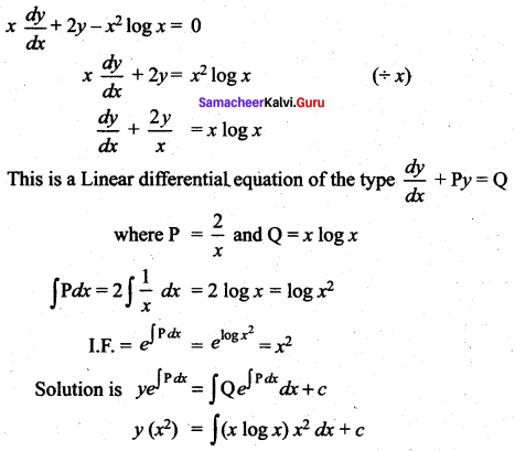 Samacheer Kalvi 12th Maths Solutions Chapter 10 Ordinary Differential Equations Ex 10.7 43