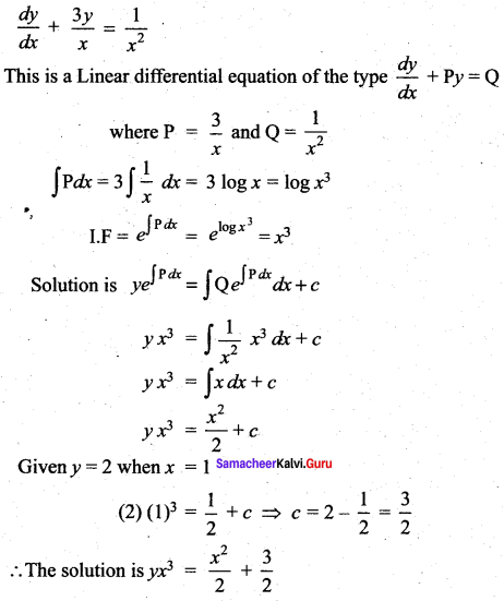 Samacheer Kalvi 12th Maths Solutions Chapter 10 Ordinary Differential Equations Ex 10.7 46