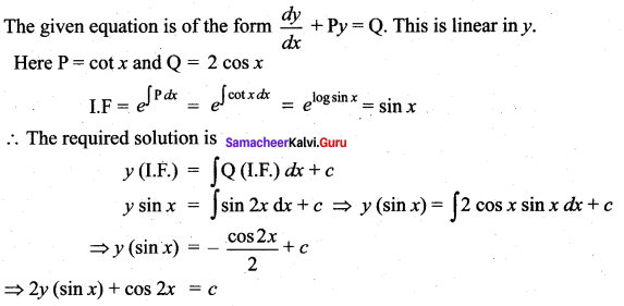 Samacheer Kalvi 12th Maths Solutions Chapter 10 Ordinary Differential Equations Ex 10.7 48