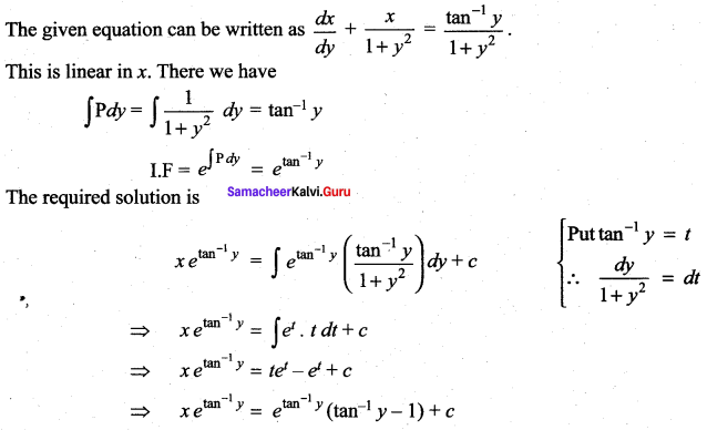 Samacheer Kalvi 12th Maths Solutions Chapter 10 Ordinary Differential Equations Ex 10.7 54