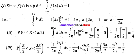 Samacheer Kalvi 12th Maths Solutions Chapter 11 Probability Distributions Ex 11.2 30