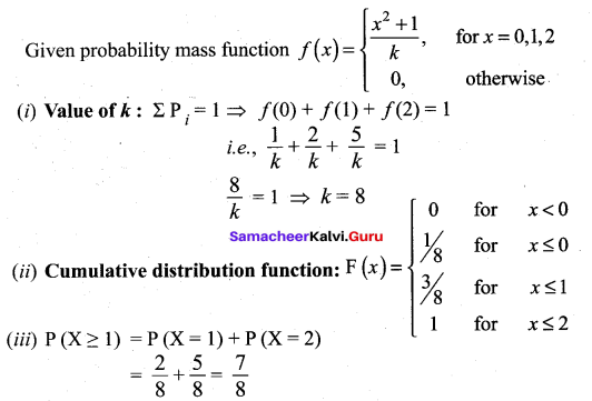 Samacheer Kalvi 12th Maths Solutions Chapter 11 Probability Distributions Ex 11.2 9