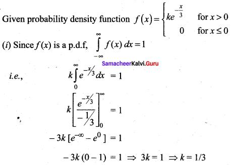 Samacheer Kalvi 12th Maths Solutions Chapter 11 Probability Distributions Ex 11.3 10