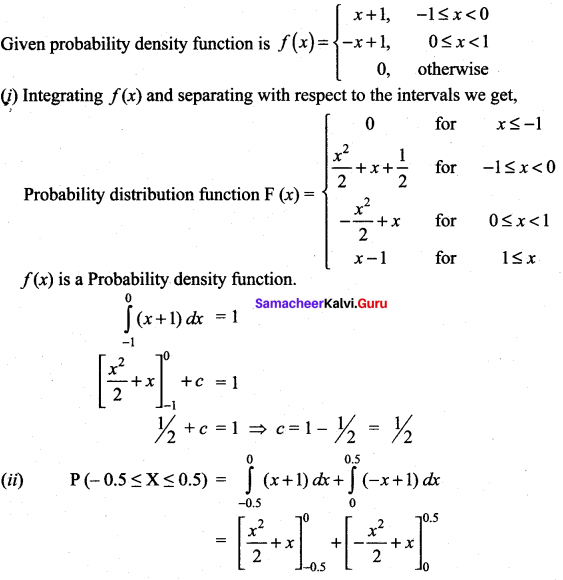 Samacheer Kalvi 12th Maths Solutions Chapter 11 Probability Distributions Ex 11.3 14