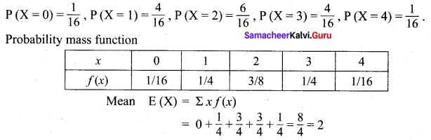 Samacheer Kalvi 12th Maths Solutions Chapter 11 Probability Distributions Ex 11.4 11
