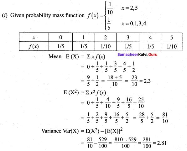Samacheer Kalvi 12th Maths Solutions Chapter 11 Probability Distributions Ex 11.4 2
