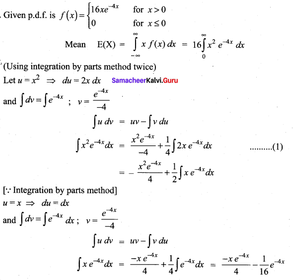 Samacheer Kalvi 12th Maths Solutions Chapter 11 Probability Distributions Ex 11.4 20