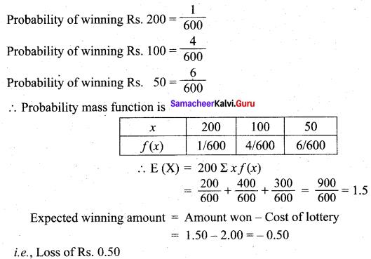 Samacheer Kalvi 12th Maths Solutions Chapter 11 Probability Distributions Ex 11.4 23
