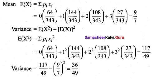 Samacheer Kalvi 12th Maths Solutions Chapter 11 Probability Distributions Ex 11.4 26
