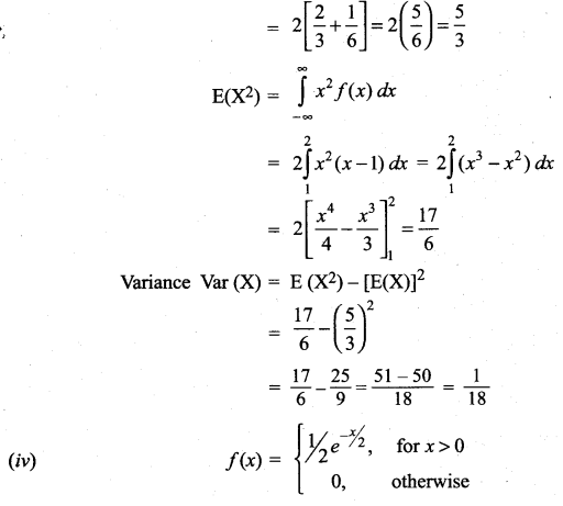 Samacheer Kalvi 12th Maths Solutions Chapter 11 Probability Distributions Ex 11.4 5