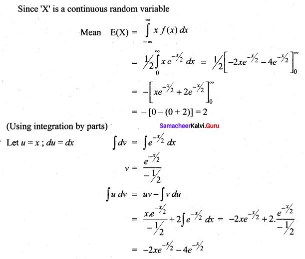Samacheer Kalvi 12th Maths Solutions Chapter 11 Probability Distributions Ex 11.4 6
