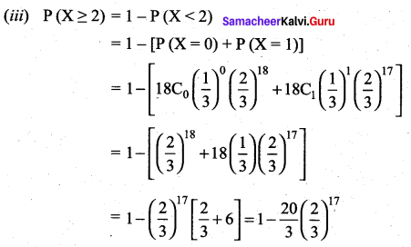 Samacheer Kalvi 12th Maths Solutions Chapter 11 Probability Distributions Ex 11.5 17