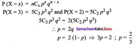 Samacheer Kalvi 12th Maths Solutions Chapter 11 Probability Distributions Ex 11.5 23