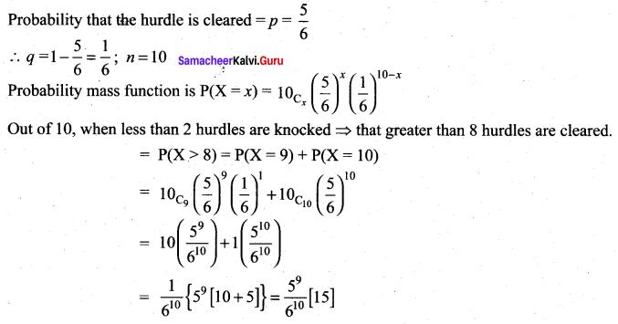 Samacheer Kalvi 12th Maths Solutions Chapter 11 Probability Distributions Ex 11.5 27