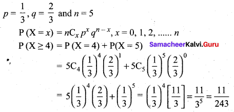 Samacheer Kalvi 12th Maths Solutions Chapter 11 Probability Distributions Ex 11.6 11