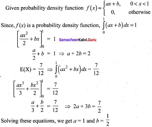 Samacheer Kalvi 12th Maths Solutions Chapter 11 Probability Distributions Ex 11.6 17