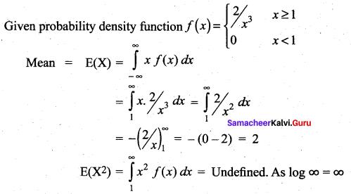 Samacheer Kalvi 12th Maths Solutions Chapter 11 Probability Distributions Ex 11.6 2