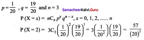 Samacheer Kalvi 12th Maths Solutions Chapter 11 Probability Distributions Ex 11.6 26