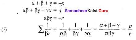 Samacheer Kalvi 12th Maths Example Sums Solutions Chapter 3 Theory Of Equations Ex 3.1