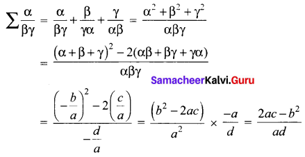 12th Maths 3.1 Solutions Chapter 3 Theory Of Equations Samacheer Kalvi