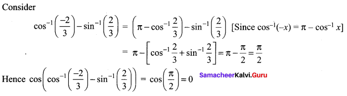 Samacheer Kalvi 12th Maths Solutions Chapter 4 Inverse Trigonometric Functions Ex 4.2 44